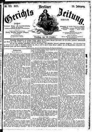 Berliner Gerichts-Zeitung vom 23.10.1877