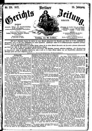 Berliner Gerichts-Zeitung vom 30.10.1877