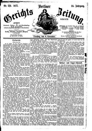 Berliner Gerichts-Zeitung vom 06.11.1877
