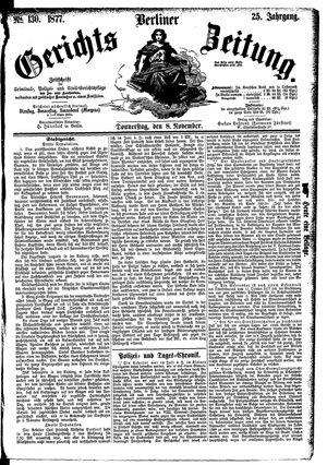 Berliner Gerichts-Zeitung vom 08.11.1877