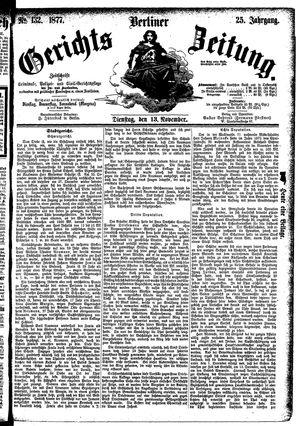 Berliner Gerichts-Zeitung vom 13.11.1877