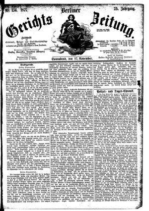 Berliner Gerichts-Zeitung vom 17.11.1877