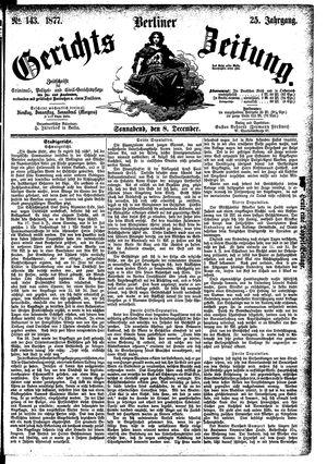 Berliner Gerichts-Zeitung vom 08.12.1877