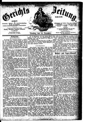 Berliner Gerichts-Zeitung vom 11.12.1877