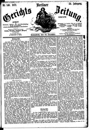 Berliner Gerichts-Zeitung vom 15.12.1877