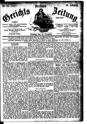 Berliner Gerichts-Zeitung vom 18.12.1877