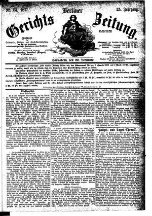 Berliner Gerichts-Zeitung vom 29.12.1877