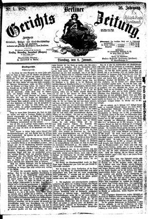 Berliner Gerichts-Zeitung vom 01.01.1878