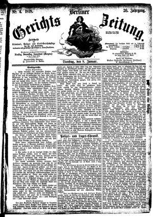 Berliner Gerichts-Zeitung vom 08.01.1878
