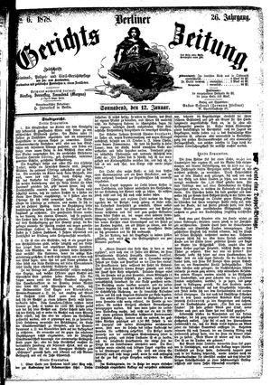 Berliner Gerichts-Zeitung vom 12.01.1878