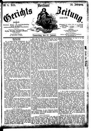 Berliner Gerichts-Zeitung vom 17.01.1878