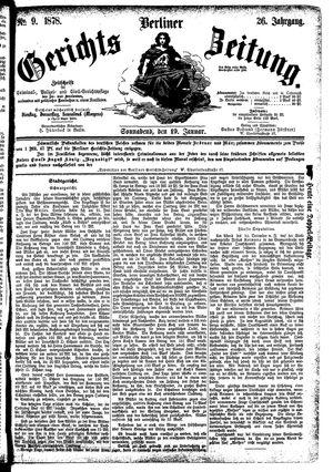 Berliner Gerichts-Zeitung vom 19.01.1878