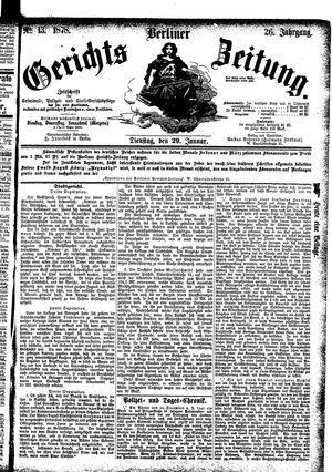 Berliner Gerichts-Zeitung vom 29.01.1878