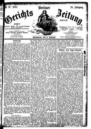 Berliner Gerichts-Zeitung vom 09.02.1878