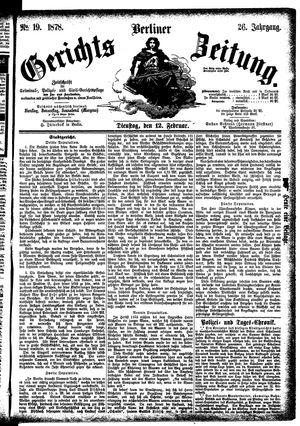 Berliner Gerichts-Zeitung vom 12.02.1878