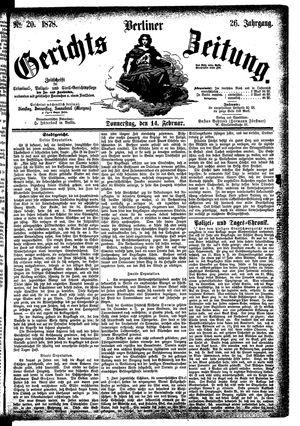 Berliner Gerichts-Zeitung vom 14.02.1878