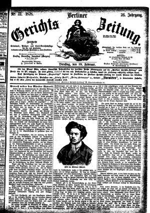 Berliner Gerichts-Zeitung vom 19.02.1878