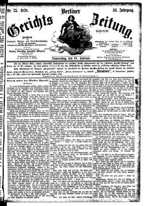 Berliner Gerichts-Zeitung vom 21.02.1878