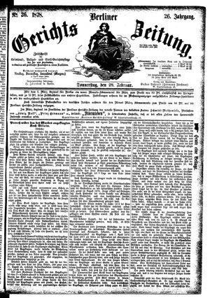 Berliner Gerichts-Zeitung vom 28.02.1878