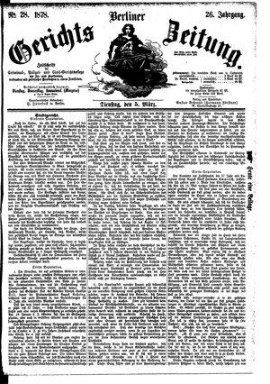 Berliner Gerichts-Zeitung on Mar 5, 1878