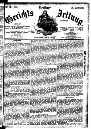 Berliner Gerichts-Zeitung vom 09.03.1878