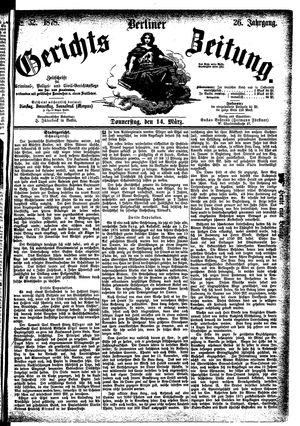 Berliner Gerichts-Zeitung vom 14.03.1878