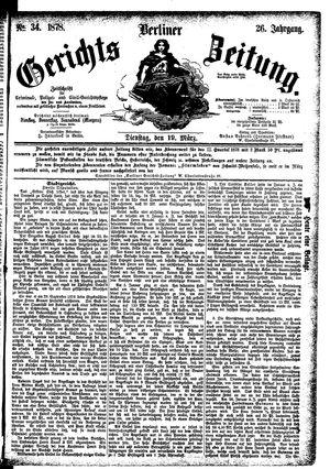 Berliner Gerichts-Zeitung vom 19.03.1878
