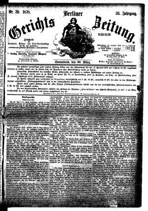Berliner Gerichts-Zeitung vom 30.03.1878
