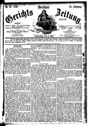 Berliner Gerichts-Zeitung vom 02.05.1878