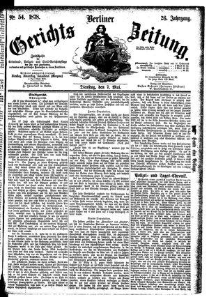 Berliner Gerichts-Zeitung vom 07.05.1878