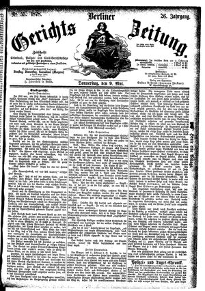 Berliner Gerichts-Zeitung vom 09.05.1878