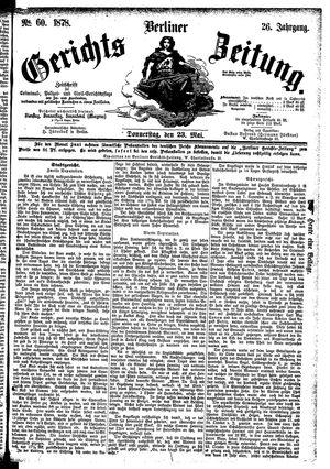 Berliner Gerichts-Zeitung vom 23.05.1878