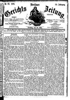 Berliner Gerichts-Zeitung vom 28.05.1878