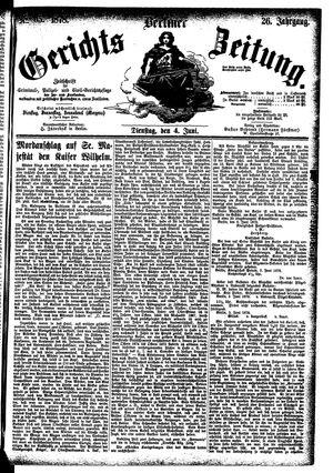 Berliner Gerichts-Zeitung vom 04.06.1878