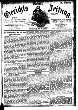 Berliner Gerichts-Zeitung vom 06.06.1878