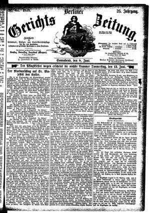 Berliner Gerichts-Zeitung vom 08.06.1878