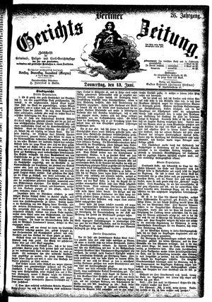 Berliner Gerichts-Zeitung vom 13.06.1878