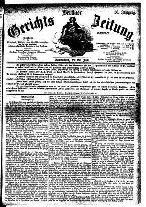 Berliner Gerichts-Zeitung vom 29.06.1878