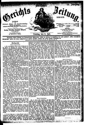 Berliner Gerichts-Zeitung vom 02.07.1878