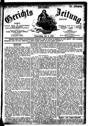 Berliner Gerichts-Zeitung vom 04.07.1878