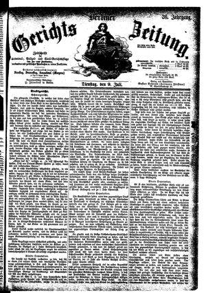Berliner Gerichts-Zeitung vom 09.07.1878