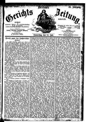 Berliner Gerichts-Zeitung vom 11.07.1878