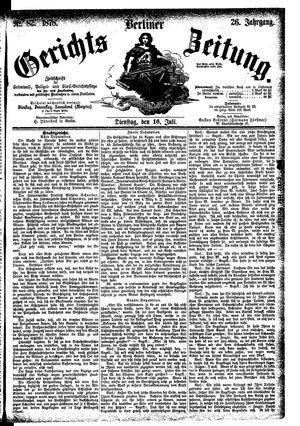 Berliner Gerichts-Zeitung vom 16.07.1878