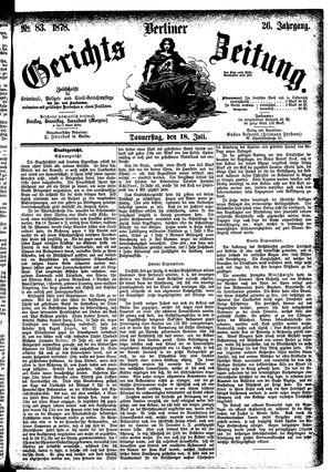 Berliner Gerichts-Zeitung vom 18.07.1878