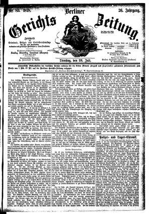 Berliner Gerichts-Zeitung on Jul 23, 1878