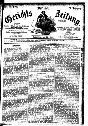 Berliner Gerichts-Zeitung vom 25.07.1878