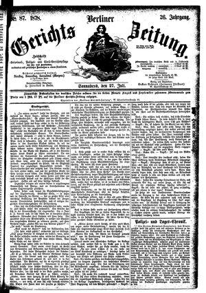 Berliner Gerichts-Zeitung vom 27.07.1878