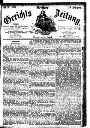 Berliner Gerichts-Zeitung vom 06.08.1878