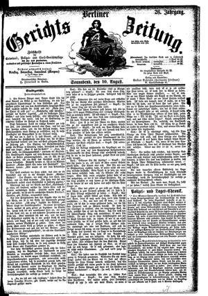 Berliner Gerichts-Zeitung vom 10.08.1878