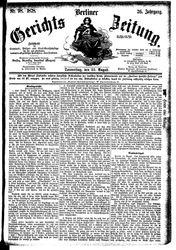 Berliner Gerichts-Zeitung (22.08.1878)